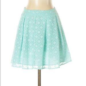 Tobi Skirts - Tobi Casual Skirt: Light Blue Print Women's Bottom